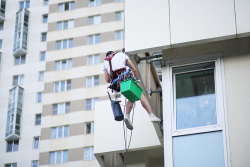 výškové práce, mytí oken